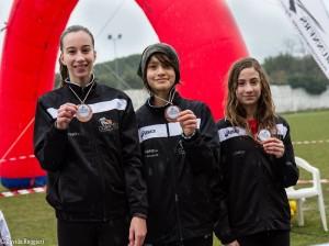 Le Ragazze vincitrici del Campionato Regionale Cross