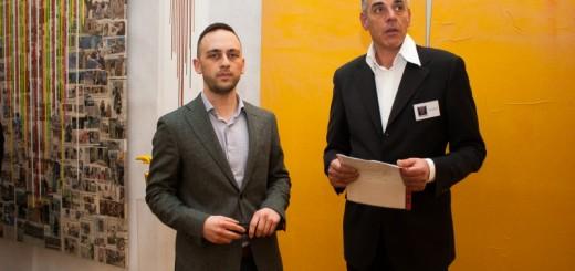 Sulla sx Aldo Quinzi in una recente mostra